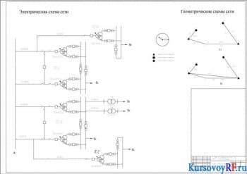 Курсовой проект электрической сети для снабжения электроэнергией потребителей районов