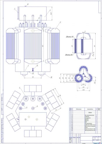 Курсовая разработка трансформатора масляного мощностью 1600 кВА