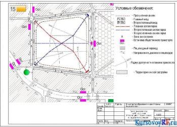 Проект планировки города на 100 тыс. жителей