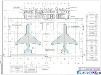 Курсовое проектирование комплекса ангарного типа на два самолето-места