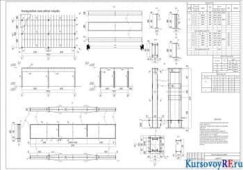 Проектирование рабочей металлической площадки