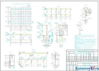 Балочная клетка проектирование, расчет и чертежи