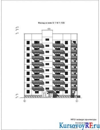 Девятиэтажное жилое здание
