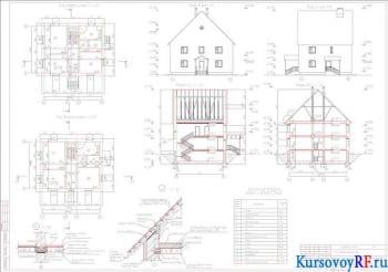Разработка проекта жилого малоэтажного здания из мелкоразмерных элементов