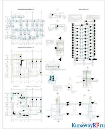 Разработка проекта 10-ти этажного многоквартирного жилого массива с торговым помещением