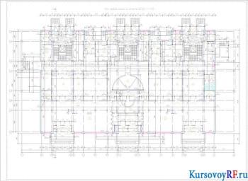 План первого этажа на отметке ±0.000
