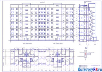 Строительство 9-ти этажного жилого массива из крупнопанельных элементов