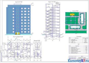 Разработка объемно-планировочного и конструктивного проекта 9-этажное жилое сооружение на 36 квартир