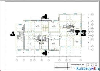 Разработка курсового проекта жилого дома двухэтажной планировки