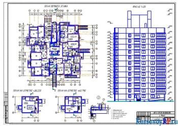 Курсовое проектирование 12-этажного крупнопанельного жилого здания