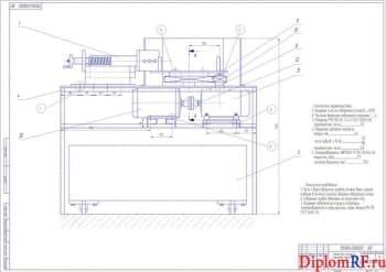 Чертеж стенда для обрезки накладок колодок тормозных (формат А1)