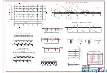 Железобетонное перекрытие многоэтажного промышленного корпуса