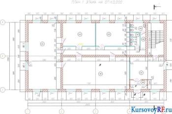 План первого этажа на отм. 0,000