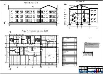 Проектирование здания гостиницы на 50 мест с обоснованием конструктивного решения