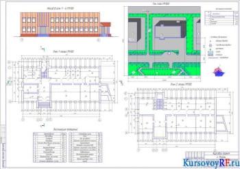 Проектирование административного помещения типа II для населенных пунктов до 4000 жителей