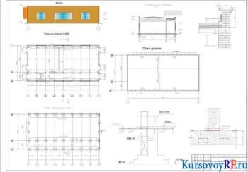 Курсовое объемно-планировочное проектирование одноэтажного каркасного здания с определением геометрических параметров фундамента