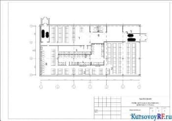 Курсовое проектирование одноэтажного промышленного корпуса с чертежами