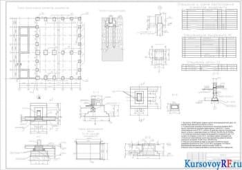 Создание столбчатых фундаментов под крайнюю колонну цеха