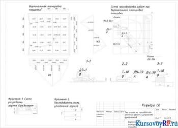 Разработка технологической карты на комплекс работ по строительству подземной части здания
