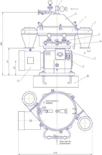 Технологическое переоснащение линии изготовления сыра за счет установки сепаратора ОТС