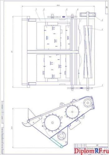 Модернизация наклонной камеры зерноуборочного комбайна ДОН-1500Б