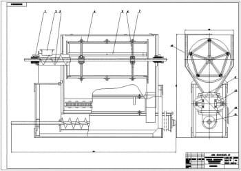 1.Чертеж общего вида просеивательной машины ПБ-1,5 А1