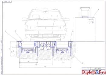 Проектирование стенда контроля тормозных механизмов легковых автомобилей