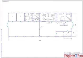 Схема план центральной ремонтной мастерской (формат А 1)