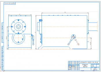 Проект шпиндельной бабки горизонтального фрезерного-сверлильно-расточного станка