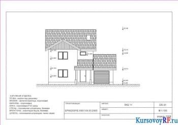 Проектирование индивидуального жилого дома для одной семьи