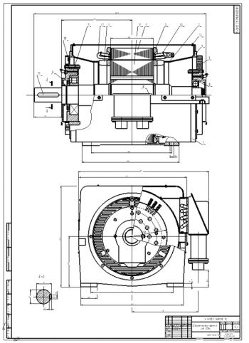 Проектирование электрической машины 4АН180М4 и асинхронного электродвигателя серии 4A37 кВт с напряжением 220/380