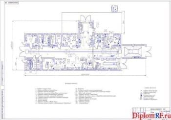 Чертеж плана мастерской (формат А1)