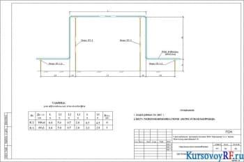 Чертеж вертикального компенсатора наружных сетей газоснабжения