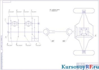 Кинематическая схема трансмиссии (формат А1)