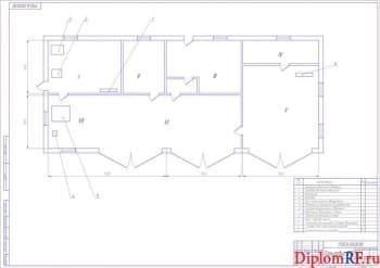 Схема планировка ПТО (формат А 1)