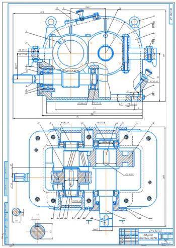 Проектирование силового механического привода с червячно-цилиндрическим  редуктором ленточного конвейера