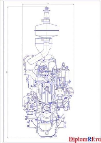 Проект дизельного двигателя мощностью 125 кВт для сельхозмашин