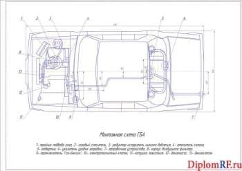 Разработка газобаллонной установки для легкового автомобиля ВАЗ-2106