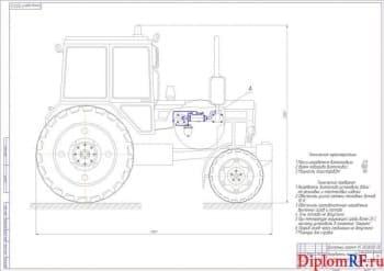 Организация перевода трактора серии МТЗ-82 на биотопливо с разработкой установки для подогрева топлива