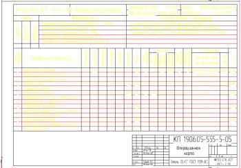 2.Операционная карта наплавки винта рулевого управления А3