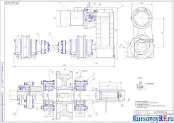 Проектирование тележки крана мостового с фланцевым редуктором передвижения
