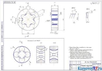 Деталь Плашка круглая