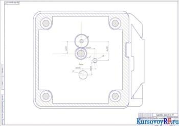 Коробка скоростей поперечный разрез
