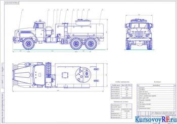 Разработка проекта топливозаправщика на базе машины Урал АТЗ-6