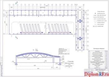 Чертёж плана производственного корпуса Балаковского ПАТК(формат А1)