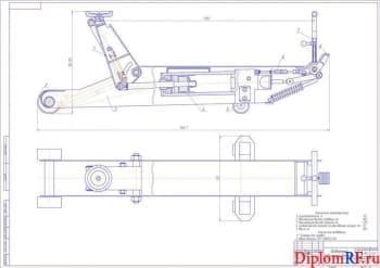 Проект участка ТО с разработкой гаражного домкрата