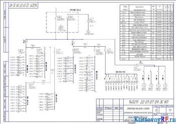 Электрическая схема ремонтно-механического цеха