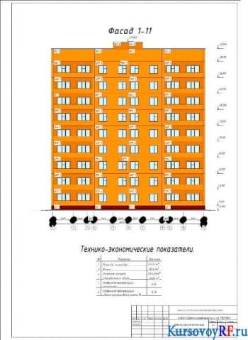 Разработка крупноэлементной конструкции многоэтажного здания жилого типа