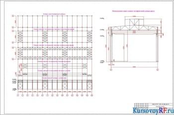 Чертеж схемы расположения колонн. Компоновочная схема