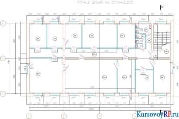 План второго этажа на отм. +3,300